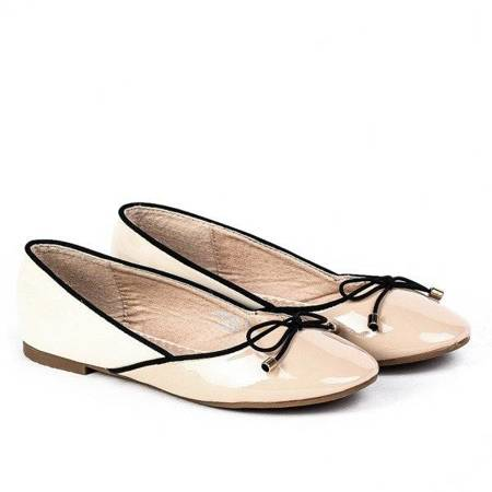OUTLET Beige ballerinas - shoes