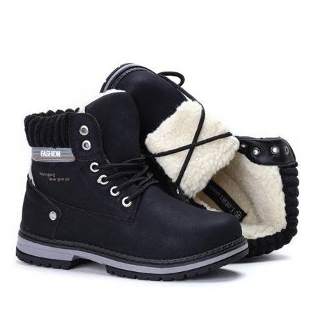 OUTLET Black insulated hiking boots Delia - Footwear