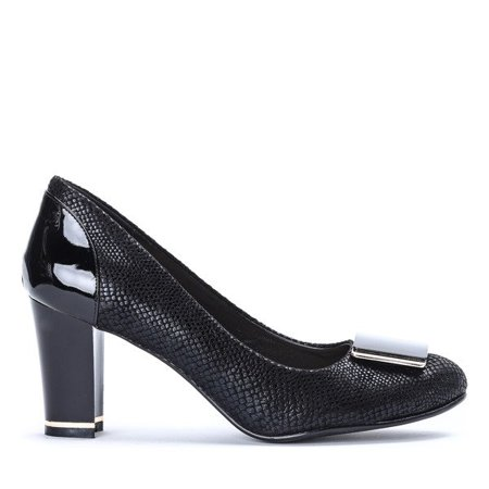 OUTLET Black pumps on the Gracie post - Footwear