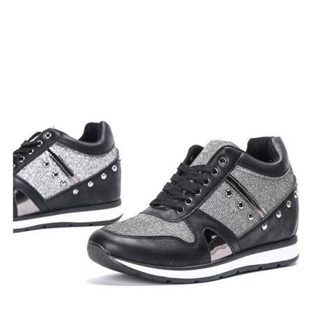 OUTLET Black sports shoes on an indoor wedge Grina - Footwear