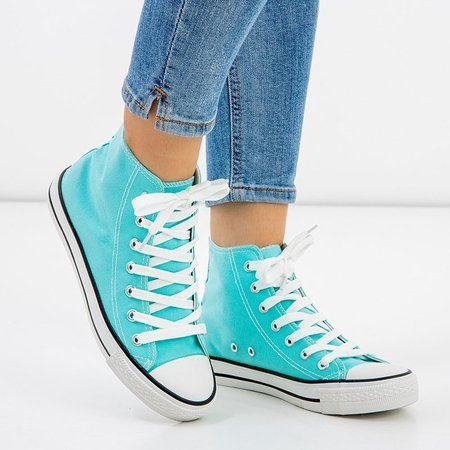 OUTLET Blue women's high-top sneakers Antonella - Footwear