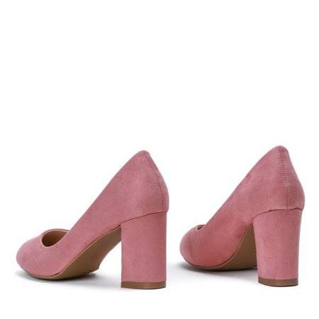 OUTLET Classic pink pumps on the post Natalya - Footwear
