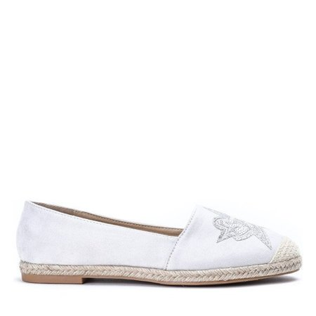 OUTLET Gray espadrilles with a Borneo patch - Shoes