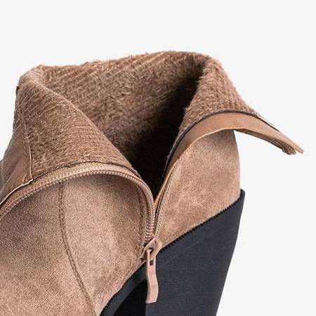 OUTLET Light brown women's cowboy boots from Cliona - Footwear