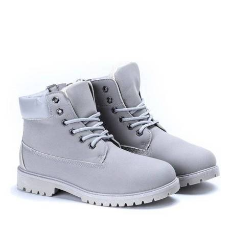 OUTLET Light gray insulated hiking boots Irma - Footwear