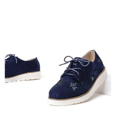 OUTLET Navy blue shoes a'la creepersy Olintomia- Shoes