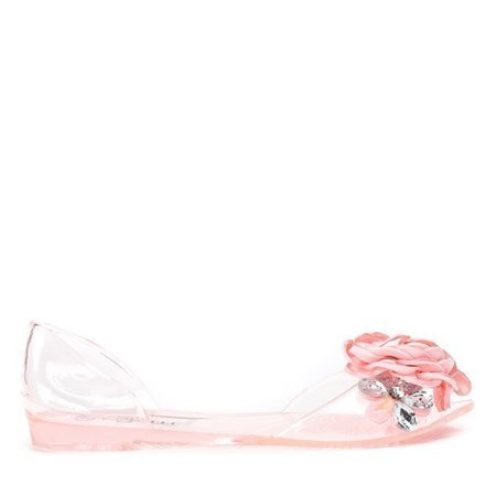 OUTLET Pink transparent melissa with decorations Malia - Footwear