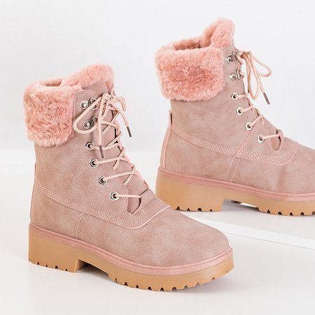 OUTLET Pink women's insulated boots Koware - Shoes