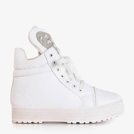 OUTLET White sneakers on an indoor Tymoni wedge - Footwear