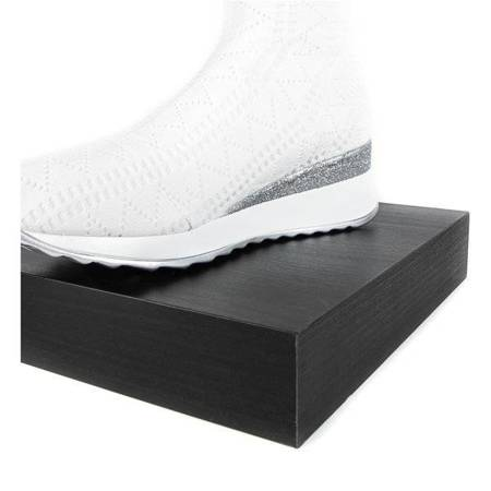 OUTLET White sports shoes on a wedge Mita - Shoes