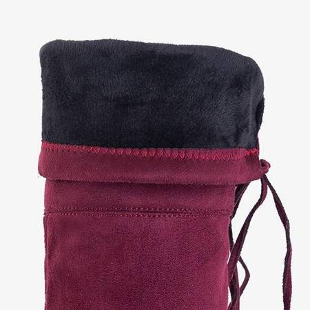 OUTLET Women's burgundy boots Ena - Footwear