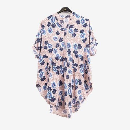 Patterned women's tunic in pink - Blouses 1