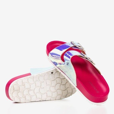 Pink flip-flops with holographic finish Sumire - Footwear 1