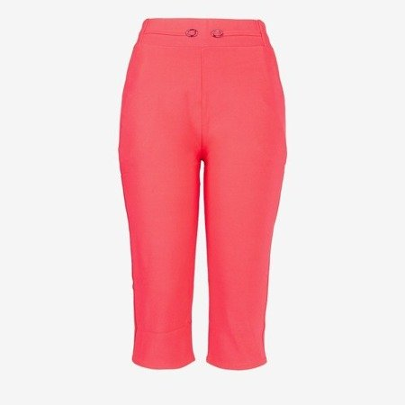 Pink short leggings with a welt - Pants 1