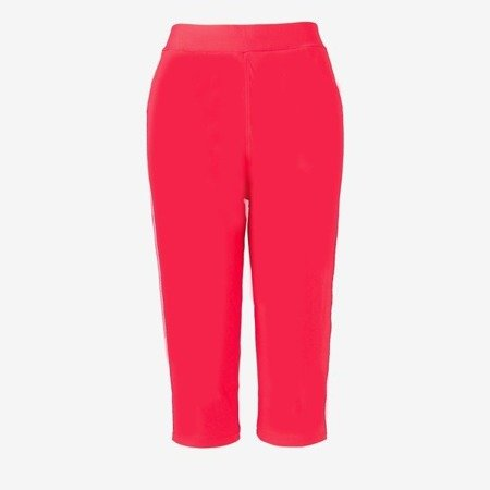 Pink short leggings with stripes - Pants 1
