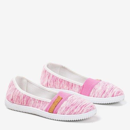Pink slip - on sneakers with stripes Arimida - Footwear
