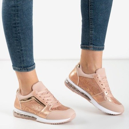Pink sports shoes with a snake skin Obsession - Shoes 1