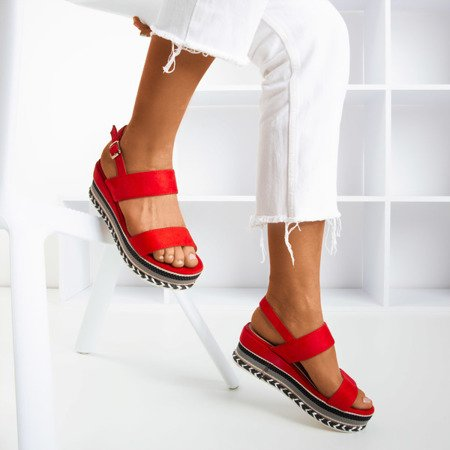 Red Colissa wedge sandals - Footwear 1