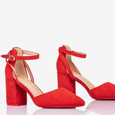Red pumps on a higher post Party Time - Footwear 1