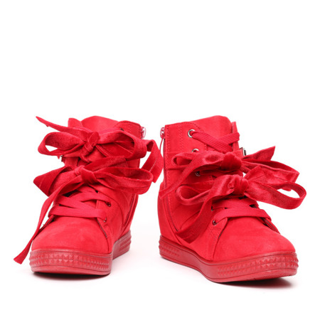 Red sneakers with studs - Footwear