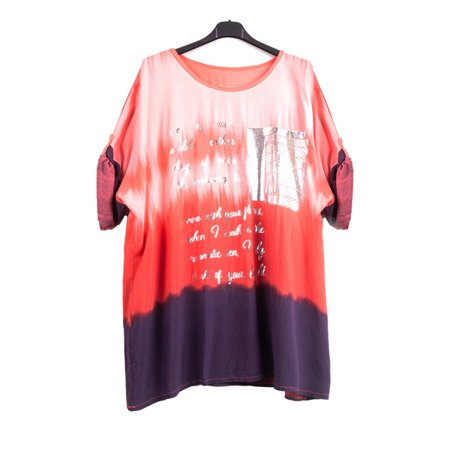 Red tunic with silver lettering - Blouse 1