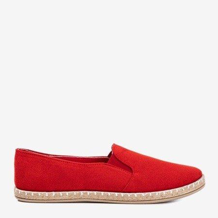 Red women's espadrilles from eco-suede Melicija - Footwear 1
