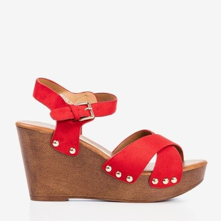 Red women's sandals on the Susannah post - Footwear 1