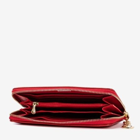 Red women's wallet with a shiny finish - Wallet