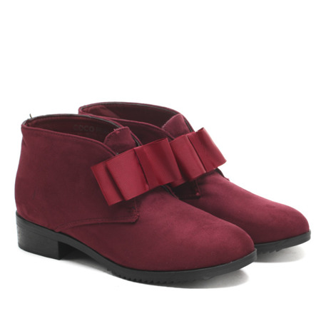 Seanna burgundy suede ankle boots - Footwear