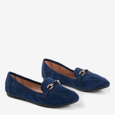 Seraphine navy blue loafers for women - Footwear 1