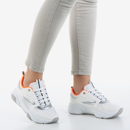 White and silver women's sports shoes Punch Love - Footwear 1