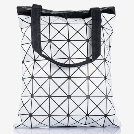 White bag with a geometric pattern - Bags 1