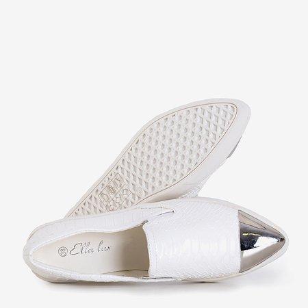 White slip on with a varnished toe Messaderra - Footwear