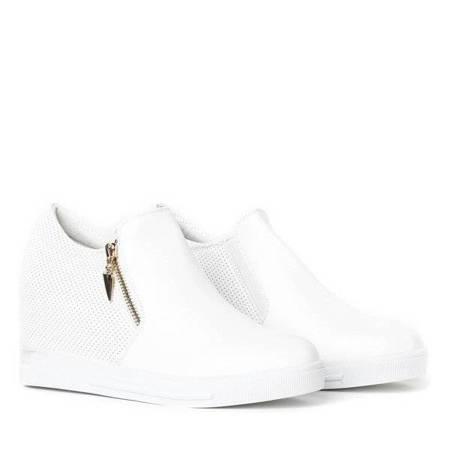 White sneakers on Evita indoor wedges - Footwear