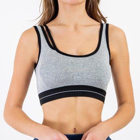 Women's Gray Sports Bra - Underwear