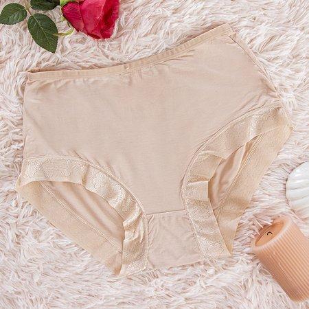 Women's beige panties panties - Underwear