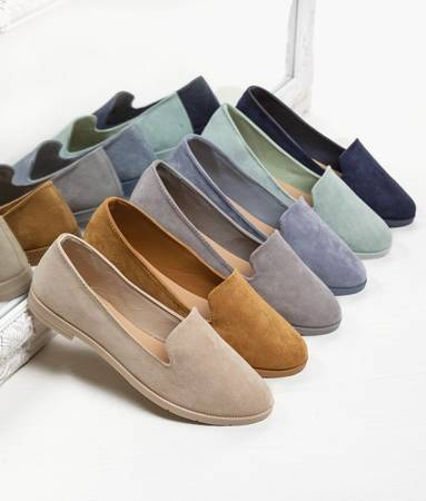 Women's black eco-suede loafers Mossolia - Footwear