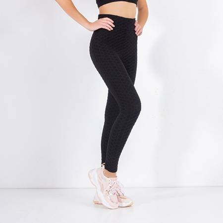 Women's black sports leggings - Clothing