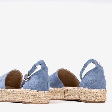 Women's blue espadrilles on the Marcita platform - Footwear