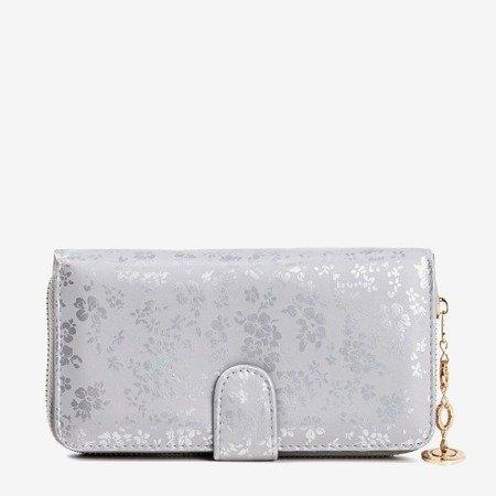 Women's gray floral wallet - Wallet