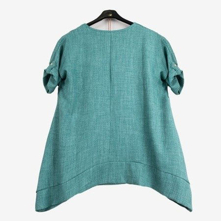 Women's green tunic - Blouses 1