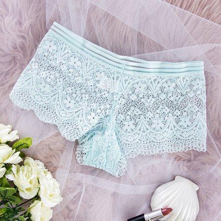 Women's mint lace boxer shorts - Underwear