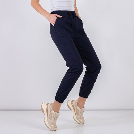 Women's navy blue cargo pants - Clothing