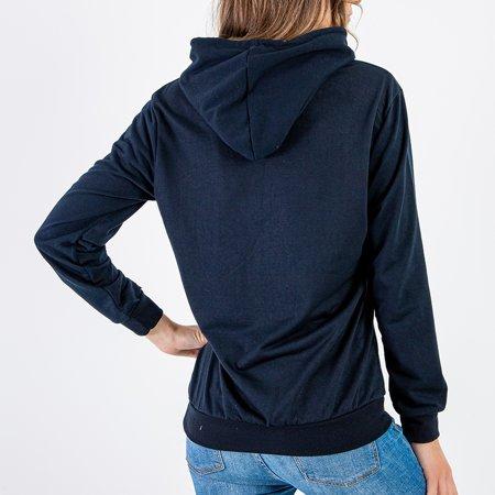 Women's navy blue hoodie - Sweatshirt