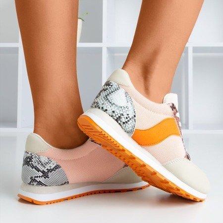 Women's pink sports shoes with a 'la snake skin' insert Kamalija - Footwear