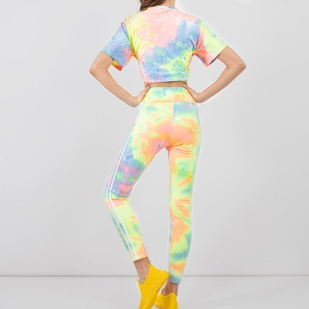 Women's pink tie dye sports set - Clothing