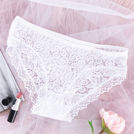 Women's white lace PLUS SIZE panties - Underwear