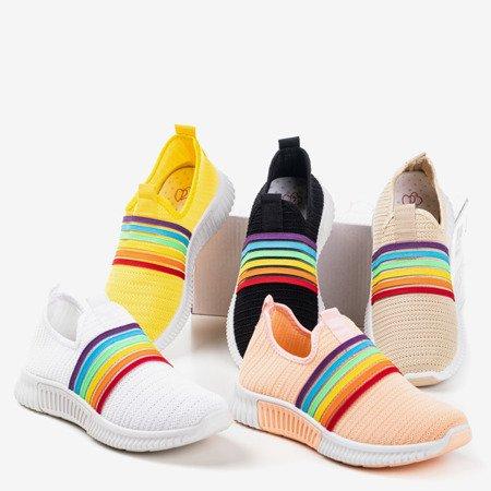 Yellow women's slip-on rainbow sports shoes - Footwear 1