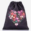 Black backpack sack with floral print - Backpacks