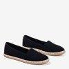 Black espadrilles from Marenda fabric - Footwear 1
